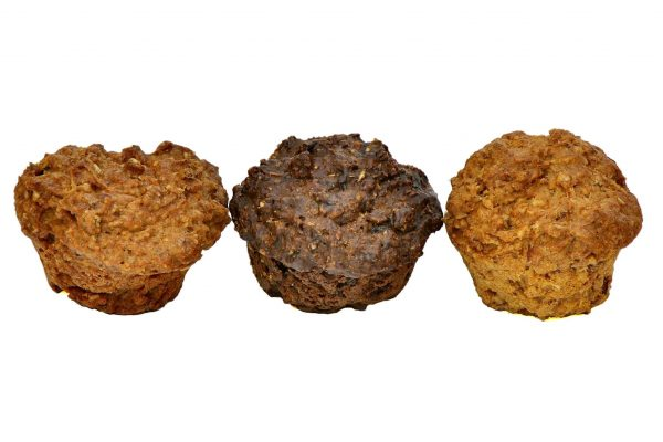 Homemade Muffins for dogs, Using real meats, Chicken, Beef and LiverThree Meaty Dog Muffins