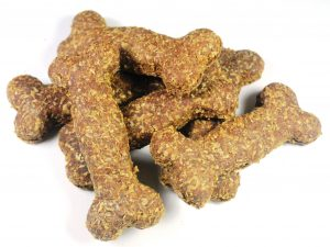 Small Liver homemade dog bone biscuits