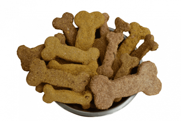 A bowl of hand-crafted healthy dog biscuit treats